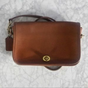 Coach Vintage Tan Leather Penny Pocket #9755